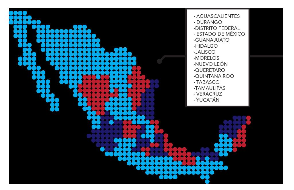 Distribución de mapa