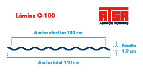 Perfil acanalado O-100