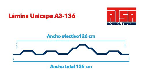 Perfil acanalado Unicapa A3-136