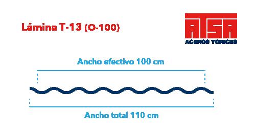 Perfil acanalado T-13 (O-100)