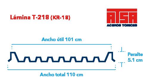 Perfil acanalado T218 (KR-18)