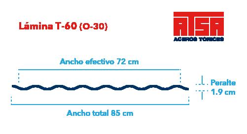 Perfil acanalado T-60 (O-30)