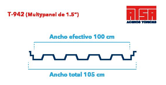 Perfil acanalado T942 (Multypanel)