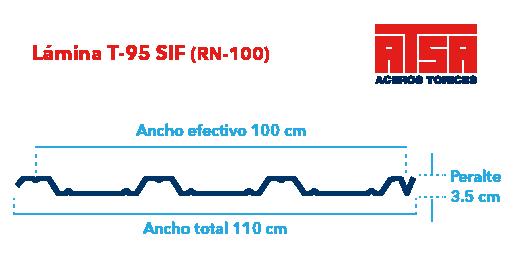 Perfil acanalado T-95 (RN-100/35)