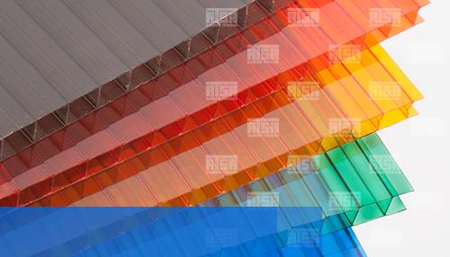 Policarbonato celular en variedad de colores
