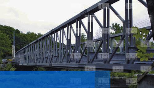 Puente fabricado con HSS