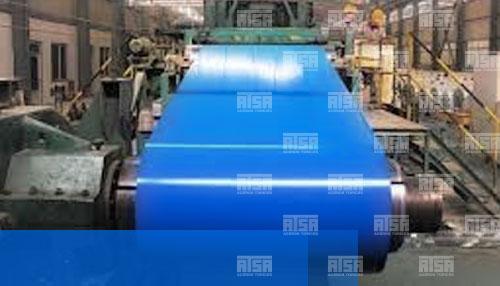 rollos de lamina pintada azul